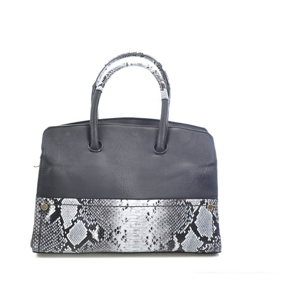 Kožená kabelka Chiara, čierna
