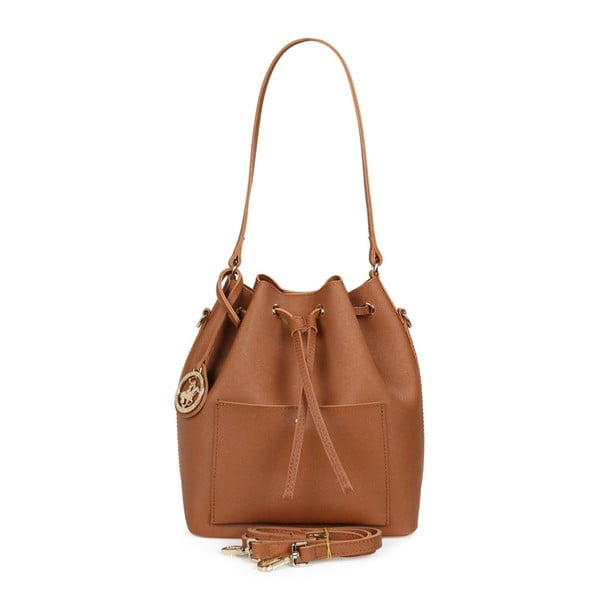 Hnedá kabelka z eko kože Beverly Hills Polo Club Sophia