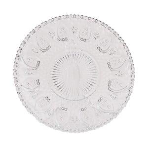 Sklenený tanier Clayre Glass, 22 cm