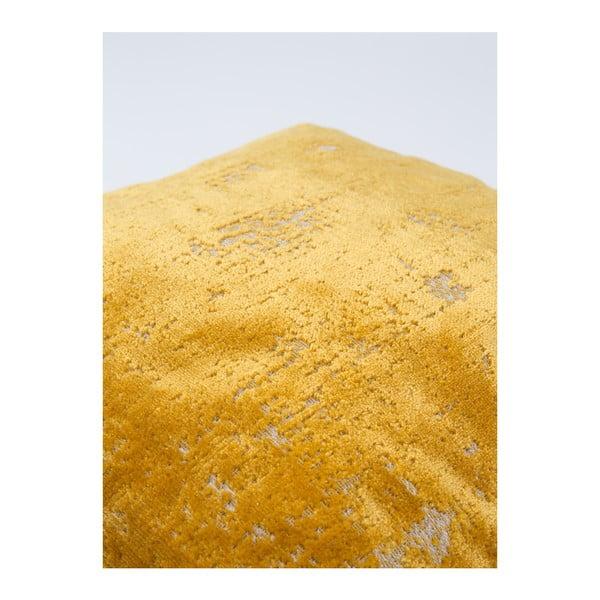 Žltý vankúš s výplňou Zuiver Sarona Vintage, 45×45cm