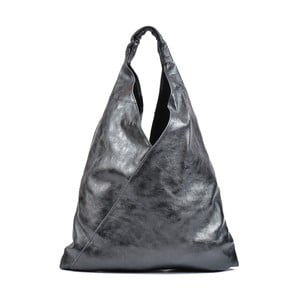 Čierna kožená kabelka Isabella Rhea Beata
