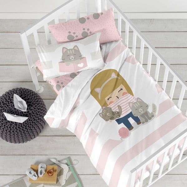 Detské obliečky z čistej bavlny Happynois Kitty, 100×120 cm