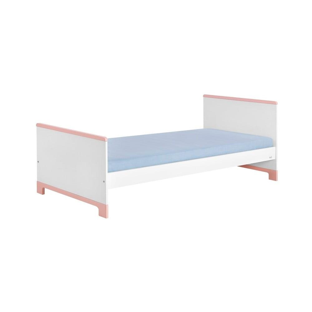 f8aef8ce88b8 Bielo-ružová detská posteľ Pinio Mini