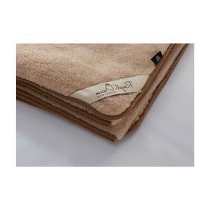 Hnedá vlnená deka Royal Dream Merino, 90x200cm
