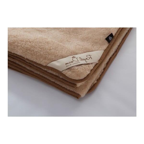 Hnedá vlnená deka Royal Dream Merino, 220×200cm
