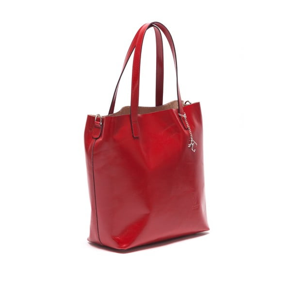 Kožená kabelka Renata Corsi 3001 Rosso