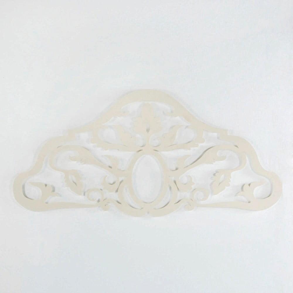 Biele kovové čelo postele Thai Natura Sing, pre šírku 150 cm