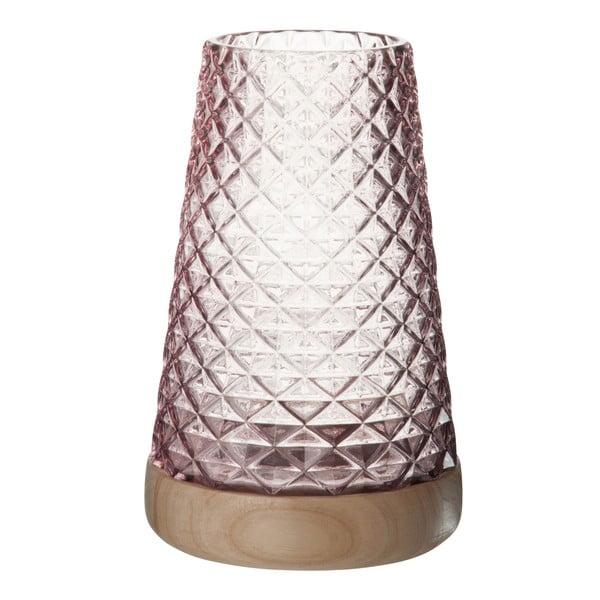 Sklenený lampáš Mauvel, výška 27 cm