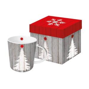 Porcelánový hrnček s vianočným motívom v darčekovom balení PPD Tree On Wood, 350 ml