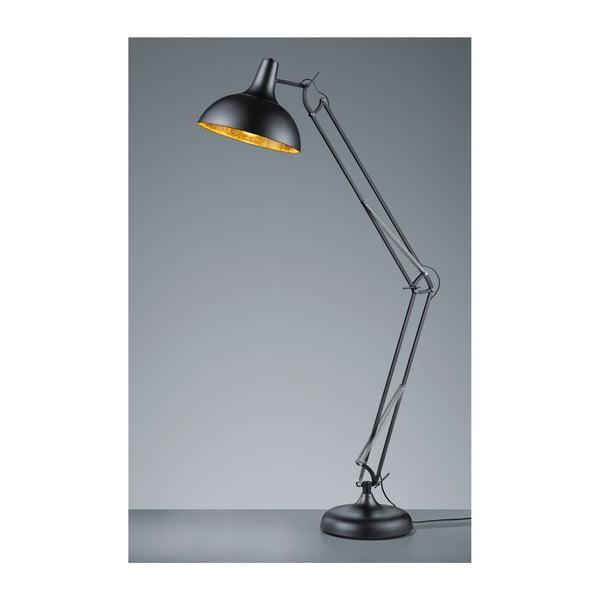 Čierna kovová stojacia lampa Trio Salvador, 75 cm