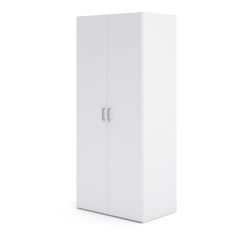 Biela dvojdverová šatníková skriňa Evegreen Houso Spark, výška 175,4 cm