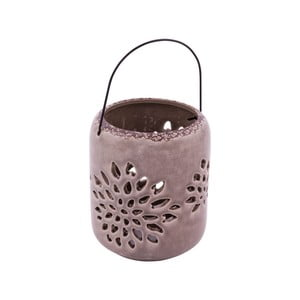 Hnedý keramický svietnik na čajovú sviečku Ego Dekor Romance, ⌀ 12 cm