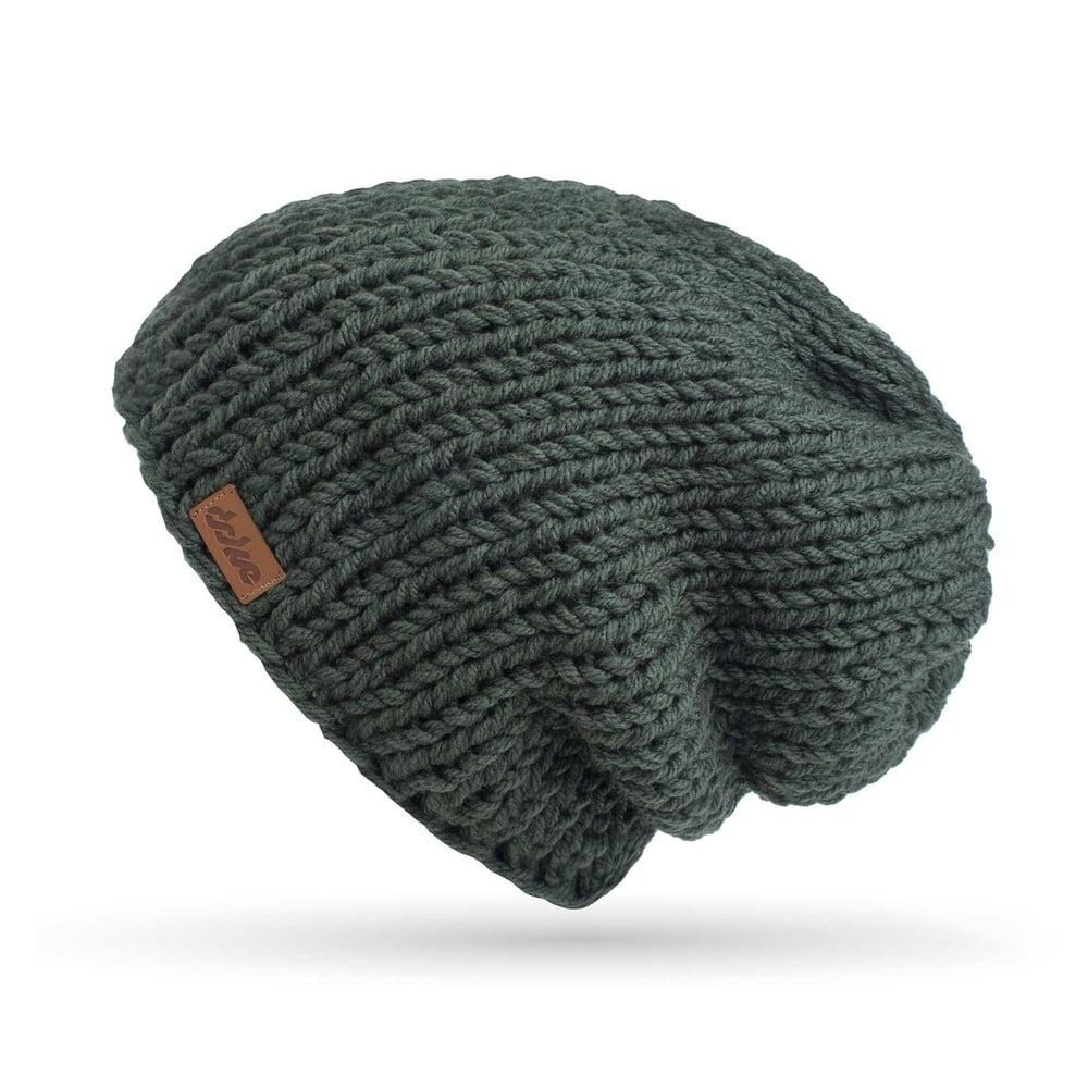 26b92f244 Olivovozelená ručne pletená čiapka DOKE Mina