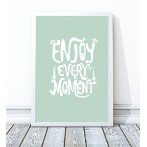Zarámovaný plagát Enjoy, 30x40 cm