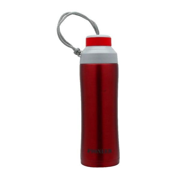 Červená športová fľaša Pioneer, 450ml