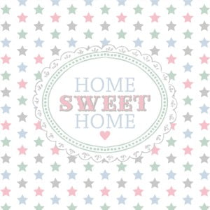 Biele obrúsky Clayre & Eef Home Sweet Home, 20ks