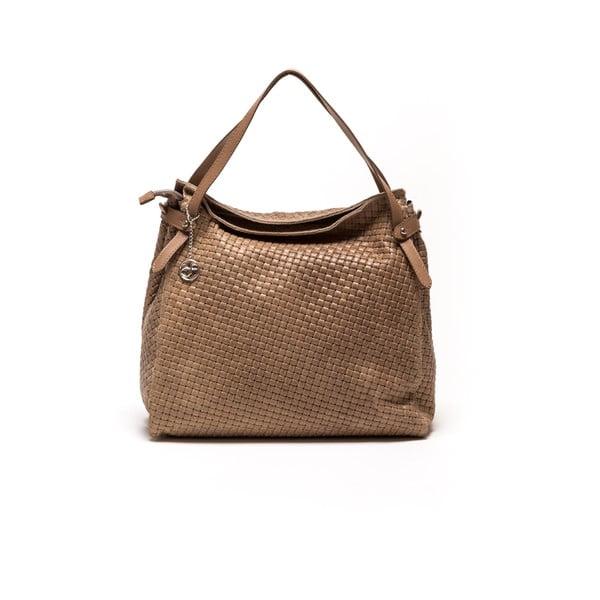 Kožená kabelka Carla Ferreri 861 Fango