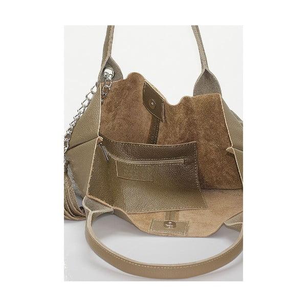 Kožená kabelka Giorgio Costa 15025 Taupe