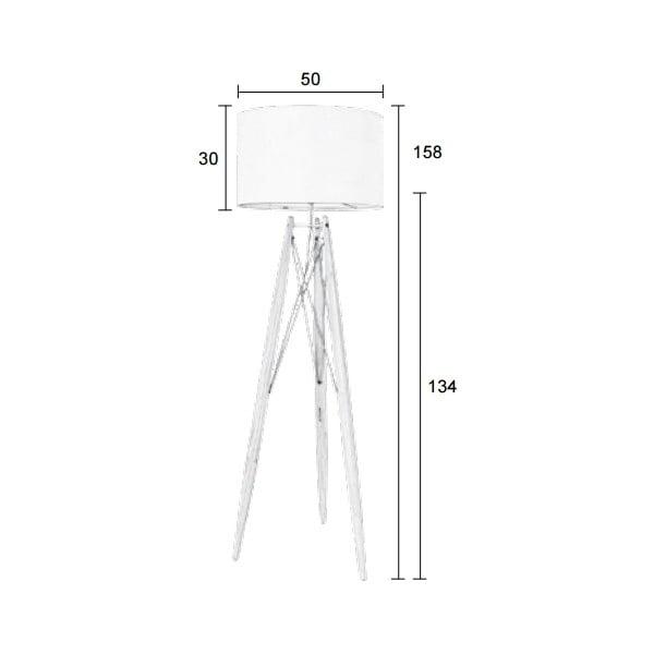 Biela stojacia lampa Eiffel