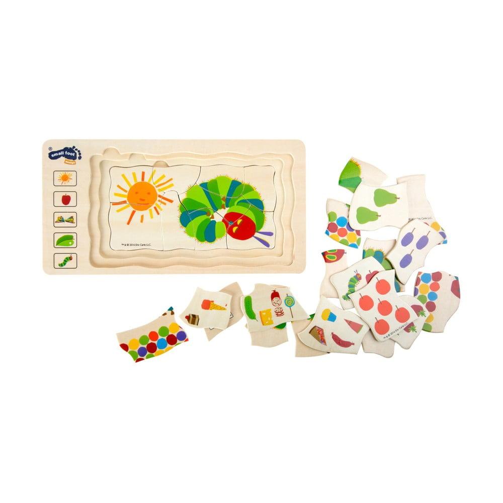 Detské drevené puzzle Legler The Very Hungry Caterpillar