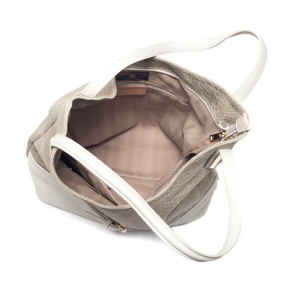 Kožená kabelka Adona, béžová