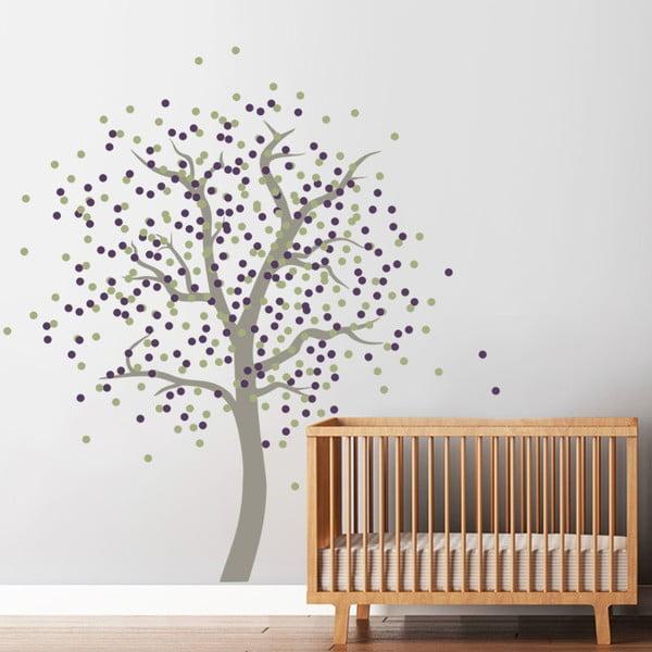 Samolepka na stenu Bodkovaný strom, 2 archy, 70x50 cm