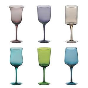 Sada 6 pohárov na víno Desigual Colore