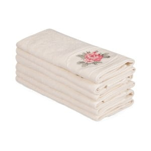Sada 6 béžových bavlnených uterákov Nakis Paco, 30×50 cm