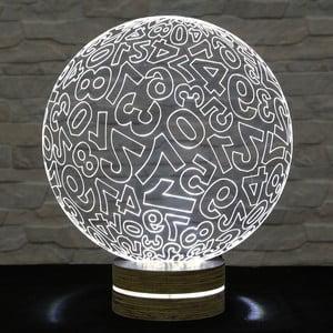 3D stolová lampa Numbers