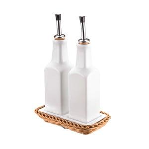 Porcelánová sada fliaš na olej a ocot Korb, svetlá