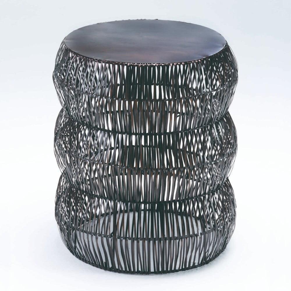 Sivá stolička Thai Natura, výška 50 cm