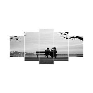 Viacdielny obraz Black&White no. 7, 100x50 cm