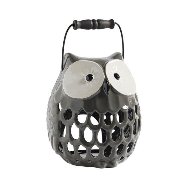 Keramický Svietnik Owl, šedý