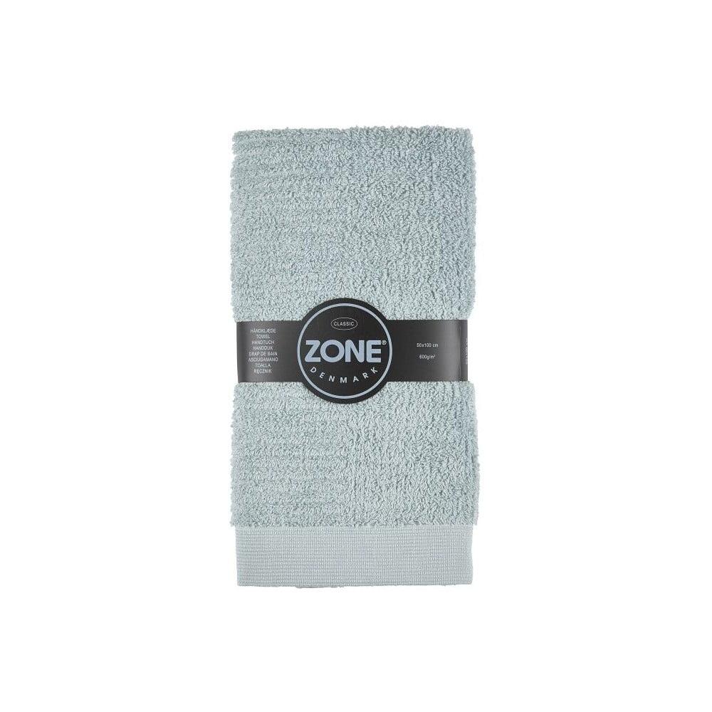 Sivozelený uterák Zone Classic, 50 x 100 cm