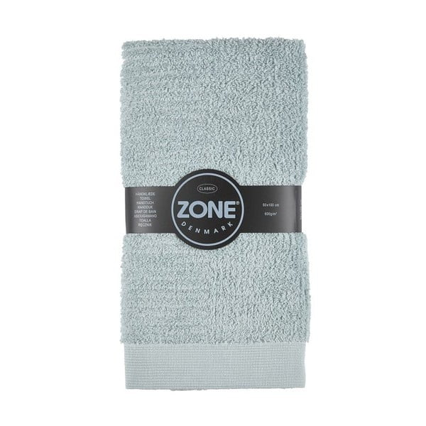 Sivozelený uterák Zone Classic, 50x100cm