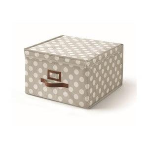 Béžový úložný box s vekom Cosatto Jolie, 40x40cm