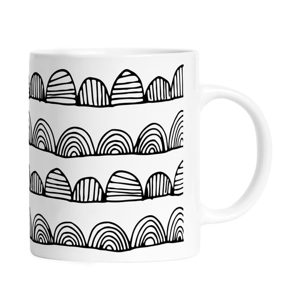 Hrnček Black Shake Bumpy Stripes, 330ml