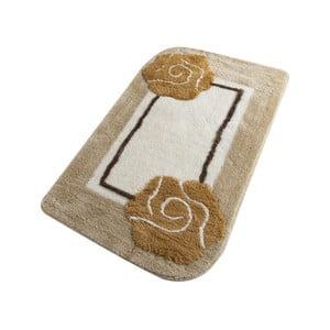 Béžová kúpeľňová predložka Confetti Bathmats Dolce Coffee, 60 x 100 cm
