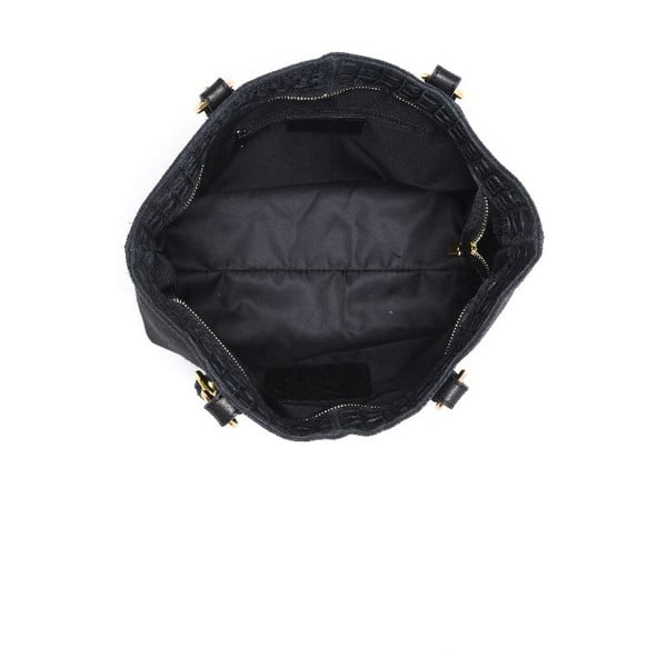 Kožená kabelka Carla Ferreri 863 Nero