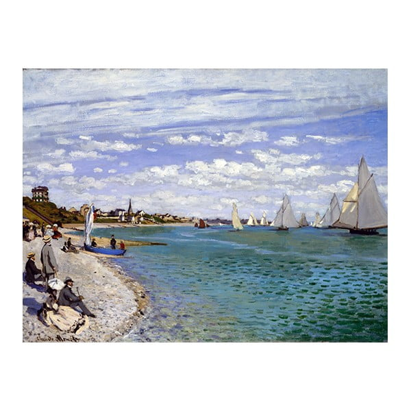 Obraz Claude Monet - Regatta at Sainte-Adresse, 40x30 cm