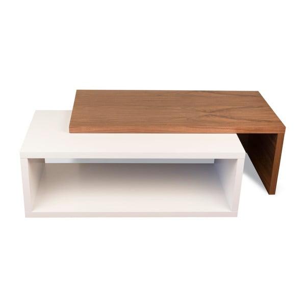 Konferenčný stolík s detailmi v dekore dreva TemaHome Jazz