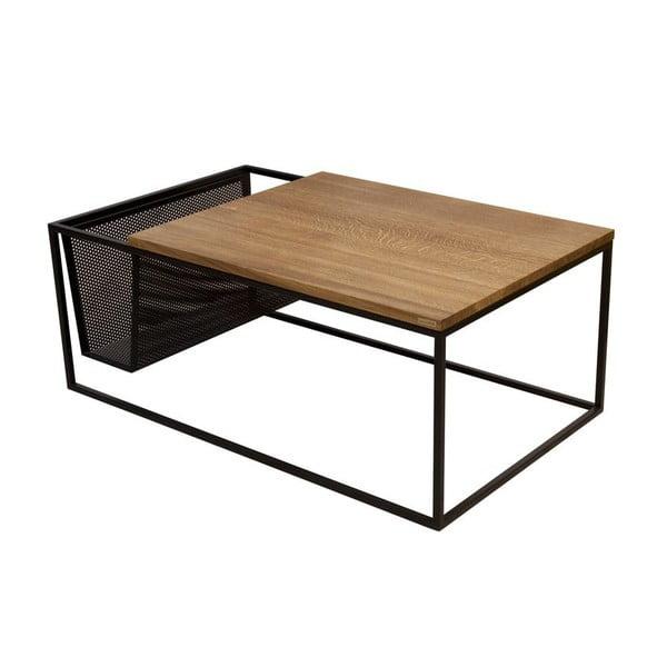 Odkladací stolík so stojanom na noviny Performa Black