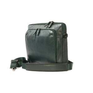 Zelená taška na rameno z talianskej kože Tucano Office