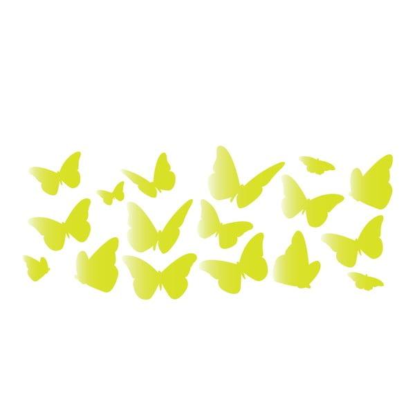 Dekoratívna svietiaca samolepka Farfalle