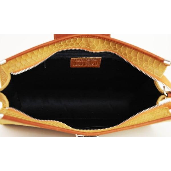 Kožená listová kabelka Bonnie Cognac