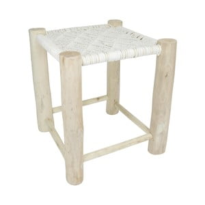 Biela drevená stolička HF Living, 40 × 40 cm