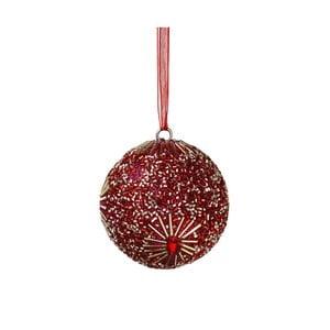 Vianočná závesná ozdoba s perlami Butlers Hang On, ⌀ 8 cm