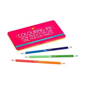 Sada 12 obojstranných pasteliek Happy Jackson Colouring