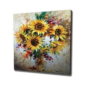 Nástenný obraz na plátne Sunflowers, 45 × 45 cm