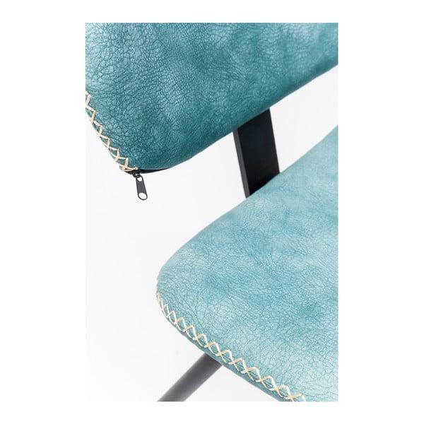 Sada 4 modrých jedálenských stoličiek Kare Design Barber